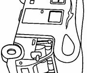 Free coloring and drawings Motorhome to decorate Coloring page