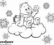Coloring pages Bear on the Clouds