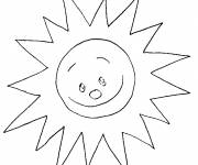 Free coloring and drawings Beautiful shining sun Coloring page