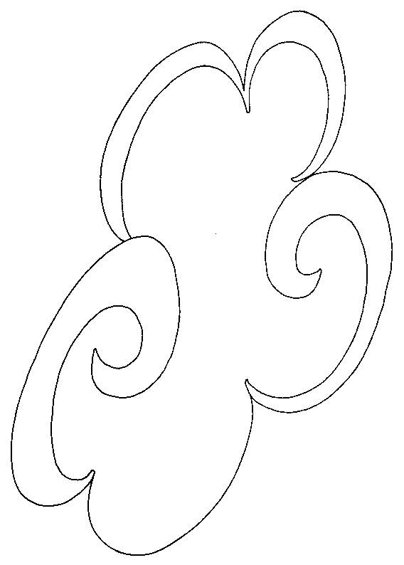Free coloring and drawings Cloud and wind Coloring page