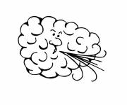 Coloring pages Cloud blowing to color
