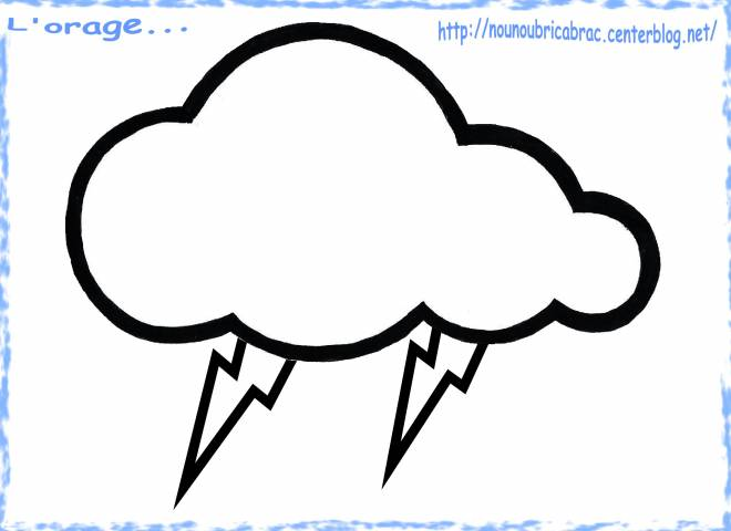 Free coloring and drawings Cloud Rain Coloring page