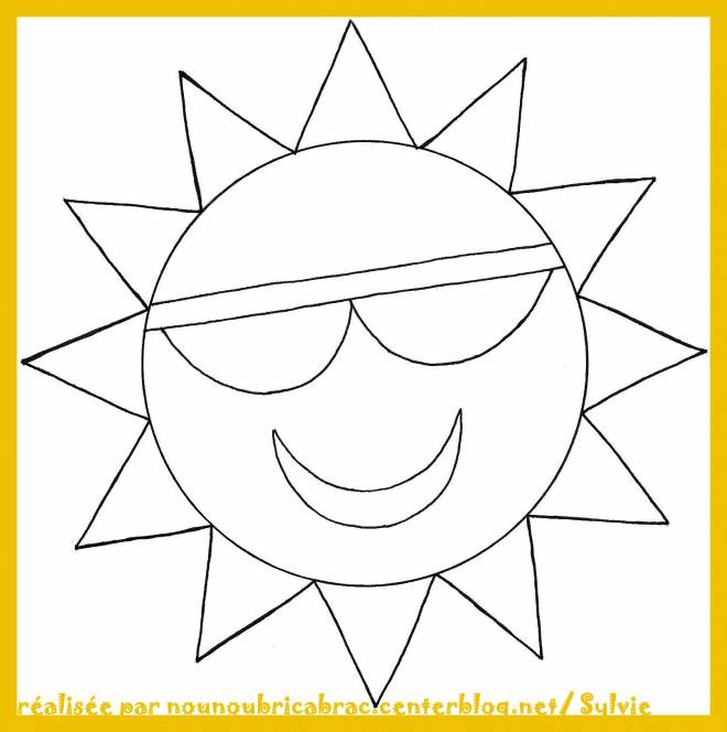 Free coloring and drawings Geometric Sun Coloring page