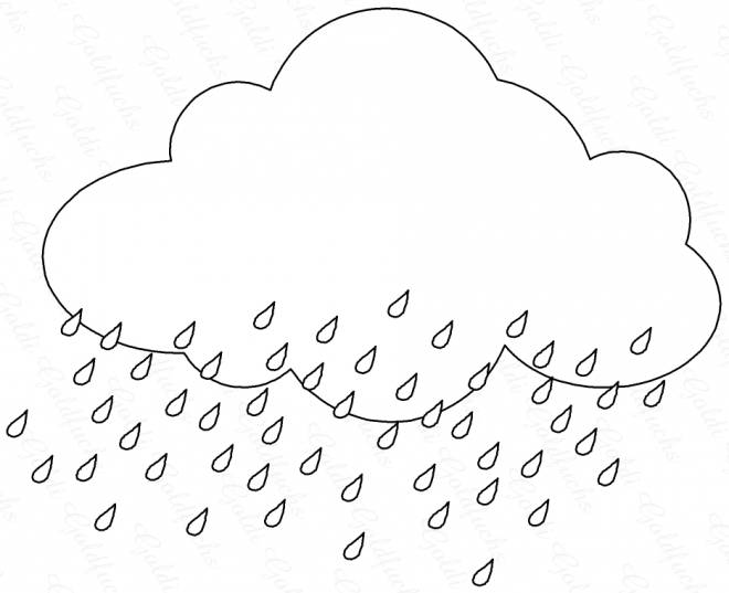 Free coloring and drawings Raining cloud color Coloring page