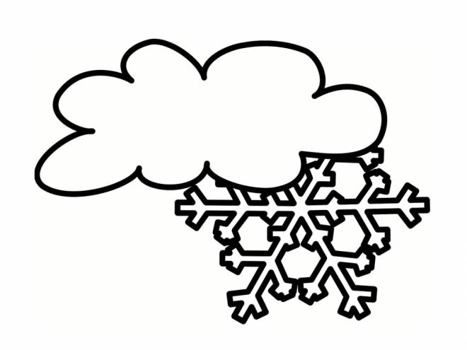 Free coloring and drawings Snow Cloud Coloring page