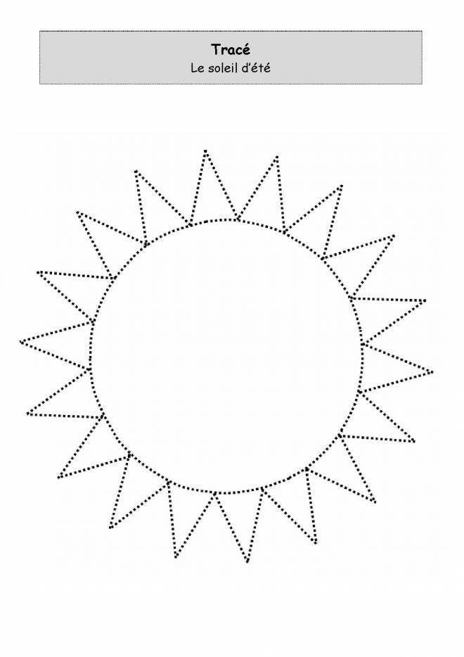 Free coloring and drawings Summer sun to trace Coloring page
