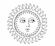 Coloring pages Cloudy sun