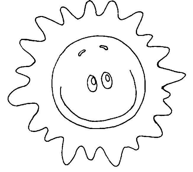Free coloring and drawings Sun shining smiling Coloring page