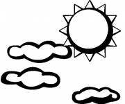 Coloring pages Sunny day