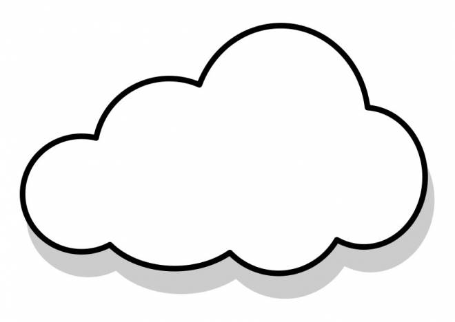 Free coloring and drawings Vector cloud Coloring page