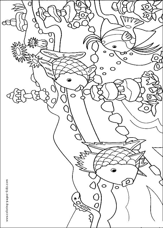 Free coloring and drawings Corals and fish Coloring page