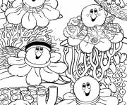 Coloring pages Corals smiling