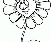 Coloring pages Daisy having a face