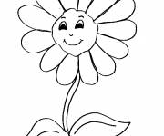 Coloring pages Daisy with smile on face