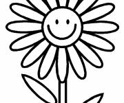 Coloring pages Funny daisy