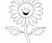 Coloring pages Smiling daisy
