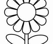 Coloring pages Stylized daisy