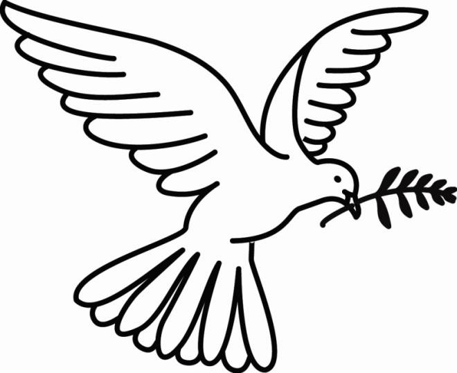Free coloring and drawings Dove and Peace Coloring page