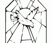 Free coloring and drawings Dove for decoration Coloring page