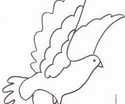 Coloring pages Dove in pencil