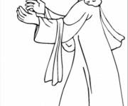 Coloring pages Dove of jesus