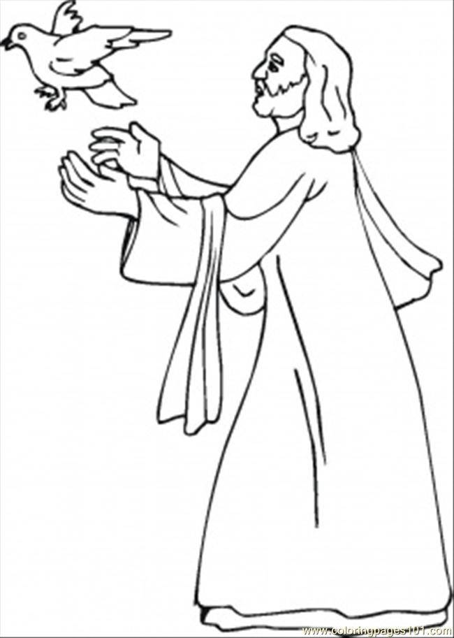 Free coloring and drawings Dove of jesus Coloring page