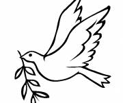 Coloring pages Dove of Maternal Peace