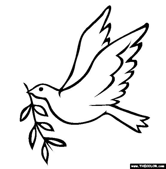 Free coloring and drawings Dove of Maternal Peace Coloring page