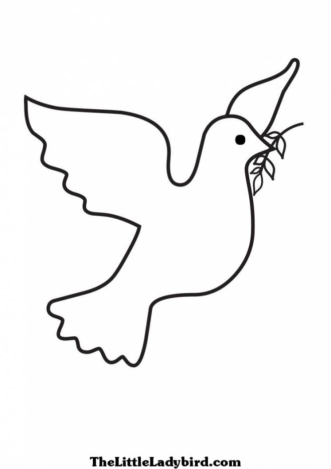 Free coloring and drawings Dove of Peace Coloring page