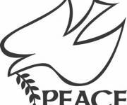 Coloring pages Dove Of Peace Logo