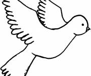 Free coloring and drawings Flying dove Coloring page