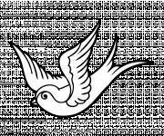 Coloring pages Little Dove in the Air