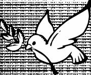 Coloring pages Peace Dove in Black