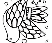 Free coloring and drawings Royal dove Coloring page