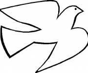 Free coloring and drawings Stylized dove Coloring page