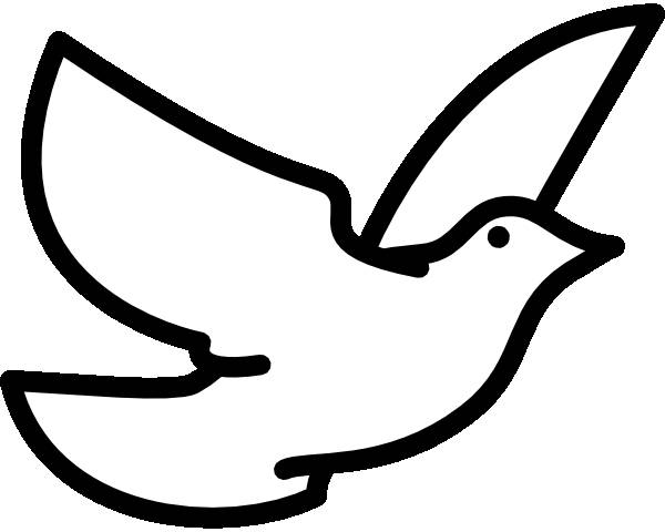Free coloring and drawings Vector dove in flight Coloring page