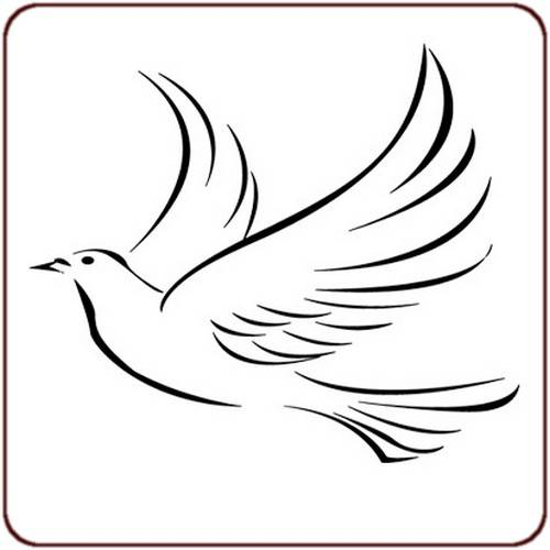 Free coloring and drawings Vector dove silhouette Coloring page