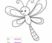 Coloring pages A funny dragonfly