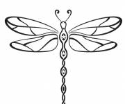 Free coloring and drawings Dragonfly 14 Coloring page