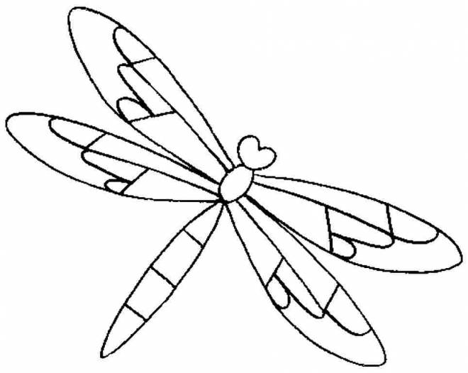 Free coloring and drawings Dragonfly 55 Coloring page