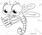 Coloring pages Dragonfly 60