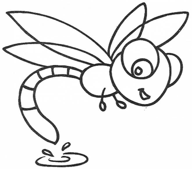 Free coloring and drawings Dragonfly 61 Coloring page