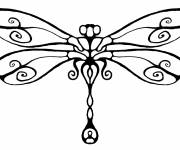 Free coloring and drawings Dragonfly drawing on computer Coloring page