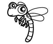 Coloring pages Dragonfly easy to download
