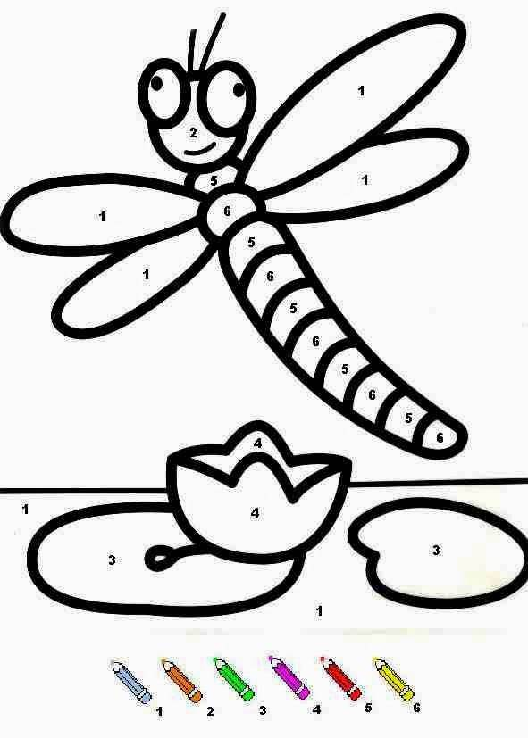 Free coloring and drawings Dragonfly for adult Coloring page