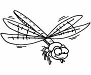 Coloring pages Dragonfly improvement