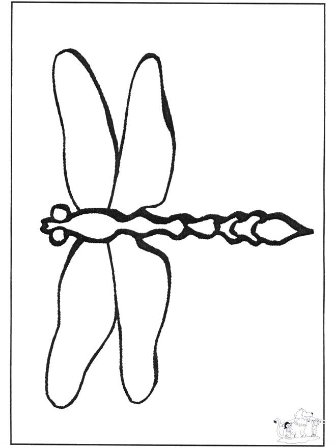 Free coloring and drawings Dragonfly simple to cut Coloring page
