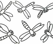 Coloring pages Dragonfly to complete