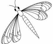 Coloring pages Simple coloring of Dragonfly