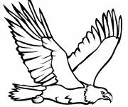 Free coloring and drawings A golden eagle on the hunt Coloring page